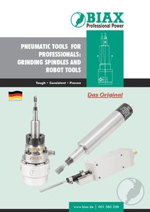 Grinding Spindles and Robot Tools